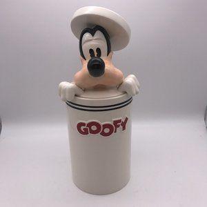 Vintage Goofy Peek-a-Boo Ceramic Cookie Jar